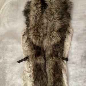 Guess faux fur knit vest